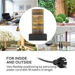 blumfeldt Raincastle – Fontaine de Jardin, Circulation d'eau Continue avec Loopflow Concept, 12 LED, Pompe de 8W, Indice de Protection: IPX8, matériau: métal galvanisé avec Aspect Briques
