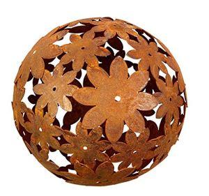 Bornhöft Boule décorative en métal et fer rouillé 30 cm