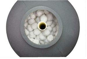 Boules de filtre de piscine Filtre Ball, Eco-Friendly fibre boule réutilisable Piscine filtre Boules en polyéthylène Filtre pour piscine, blanc