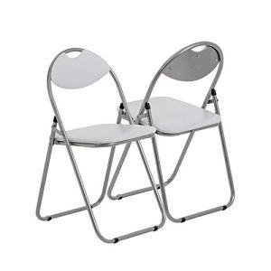 Chaise pliante rembourrée – pour le bureau – blanc – lot de 4