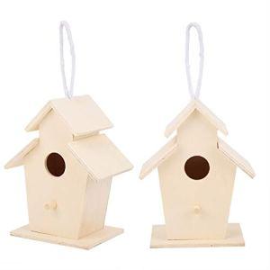 chengong Maison d'oiseau exquise et Belle, Maison d'oiseau en Bois Suspendue Durable, nichoir extérieur de mangeoire 1 Trou pour Balcon et Cour d'inséparables