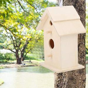 chengong Nichoir en Bois Oiseaux Nidification des nids d'oiseaux, nichoir Suspendu, Durable de Haute qualité pour la décoration de l'ornement de la Maison des Oiseaux