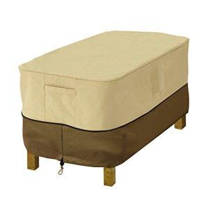Classic Accessories Veranda 71992 Housse pour Ottoman/Table – RECTANGULAIRE, Petite