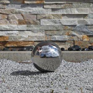 CLGarden Boule en Acier Inoxydable 15cm Boule de décoration de Jardin V2A Acier Poli