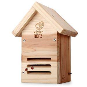 cœur d'animal sauvage | Hôtel à Coccinelle en Bois – Imperméable et Résistant aux Intempéries, Maison Insectes, sur Pied, Hôtel à Insectes – Maison pour Coccinelle