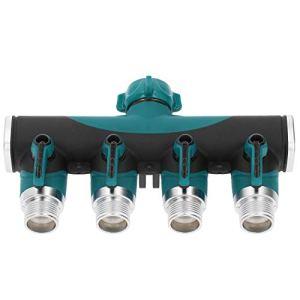 Connecteur de tuyau recouvert, séparateur de tuyau Anti-Corrosion, séparateur d'eau à valve en métal produit de pelouse 3 / 4in pour le jardinage d'arrosage de fleurs