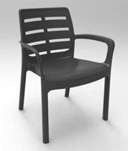 Desantis 'Chaise résine avec accoudoirs Bornéo Blanche d