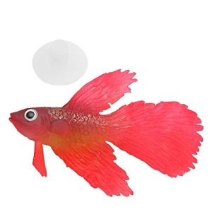 DFSMG Glowing Artificielle en Silicone Souple Effet d'aquarium de Poissons d'ornement réservoir décor (Color : Red, Size : S)