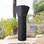 Diealles Shine Vordas Housse pour Parasol Chauffant Noir 226 x 85 x 48 cm