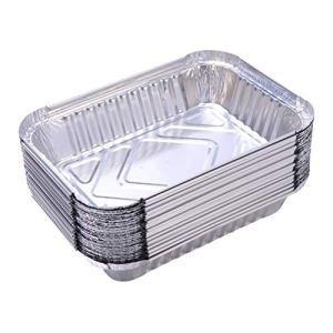 DOITOOL Lot de 50 boîtes de barbecue jetables très résistantes pour barbecue, barbecue, poêles alimentaires en extérieur (130 x 100 x 42 mm)