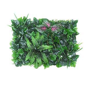 Draulic 40 60 cm Panneau arrière pour plantes artificielles Protection UV pour jardin en plein air