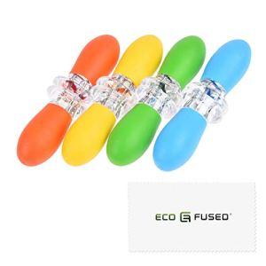 Eco-Fused Détenteurs de maïs – 4 paires (Orange/Jaune/Bleu/Vert) – Brochettes de maïs sur l'épi – Grande poignéé à Épingle – Conception imbriquée – Idéal pour la cuisine maison, barbecue, pique-niques