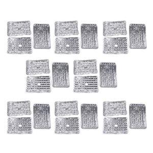 freneci 160x Plateaux de Grillage de Barbecue de Papier D'aluminium Jetables de Rechange de Barbecue Extérieur