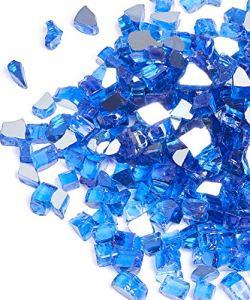 FutureWay Foyer en Verre pour intérieur et extérieur 9 kg – 1,3 cm Bleu Cobalt réfléchissant