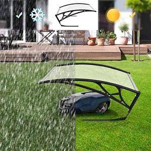 GOVD FKDENA Outdoor Canopy Sun Shipter auvent for la Tondeuse à Gazon de Robot, 102x78x34cm, Couverture de Protecteur Robot de Robot de Tondeuse à Gazon