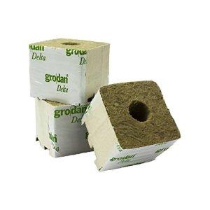 GRODAN Delta 7,5cm x 7,5cm x 6cm en différentes quantités avec greenception wuchs Engrais 100g 384x