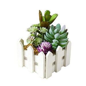 HEELPPO Plantes Artificielles Plantes Artificielles D'ExtéRieur dans des Pots Bonsaï Artificiel en Pot Plantes Vertes en Pot Plantes en Pot en Bois AdaptéEs À La DéCoration De Table Green 4