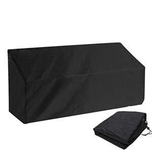 Housse de banc de jardin pour 2 places – Housse de chaise longue – Imperméable et respirante – Respirant – Résistant aux UV – En polyester – Protection de meubles (2 sièges)