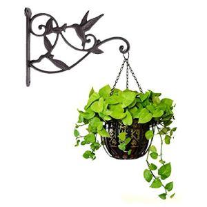 iloving Crochet Suspendu pour Plantes | en Fonte pour Colimingbird, Panier à Fleurs Décoratif, Crochet Mural Suspendu, Cintre pour Plantes D'intérieur Et D'