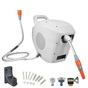 Jklt Tuyau Télescopique Automatique Bobine 180 ° Pivot for Tuyau d'arrosage Automatique Bobine Rewind Padlock Bobine for arrosage de Jardin Facile à Utiliser et Polyvalent