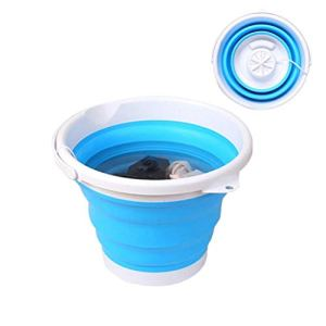 KAMLIKE Machine à Laver Wash Machine à Plier USB Pliant Barrel Camping Voyage Portable Ultrasound Lave-Bucket Mini Machine de Lavage