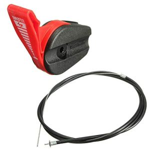 Kit de poignée de commande de câble d'accélérateur pour tondeuse à gazon universelle de 165 cm