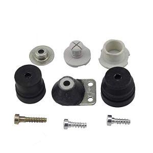 Kit de tampon AV complet avec vis de couverture for STIHL 026 024 MS240 MS260 Toeuf Pièce de remplacement des pièces de rechange
