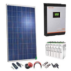 Kit Solaire 24v 1000w/5000w jour Convertisseur Multifonction 3kva Régulateur PWM 50A Batterie 4TOPzS 458Ah