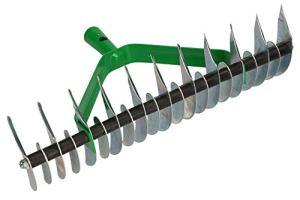 KOTARBAU® Râteau de coupe 360 x 130 mm – Aérateur de gazon – Râteau manuel pour éliminer la mousse et le feutre de pelouse.