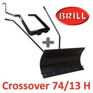 Lame à Neige 118 cm Noire + adaptateur pour BRILL Crossover 74/13 H