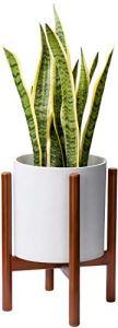 LLYU Support de Plante Simple Milieu du siècle en Bois Support de Pot de Fleur Affichage Support en Pot Rustique décor à la Maison 10 Pouces