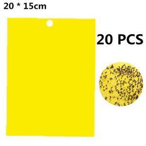 Lot de 20/30 pièges à insectes à double face pour mouches, moustiques, insectes, chenilles et autres insectes 20 Stück 20 * 15cm