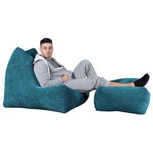 Lounge Pug®, Pouf Fauteuil Relax, Pompon Mer Égéé