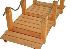 L'ultime du jardin – Pont de jardin en bois avec accoudoirs 152 * 67 * 50cm,Brown