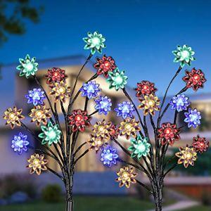 Lumière Solaire Extérieur Jardin, KagoLing Imperméable Décorative Solaire Exterieure Paysage Lampe LED Lumières pour Jardin,Terrasse, Cour, Sentier,Décoration de noël