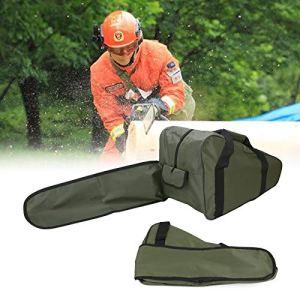 Mad Hornets 50,8 cm Sac de transport pour tronçonneuse, boîte fourre-tout portable pour tronçonneuse, vert