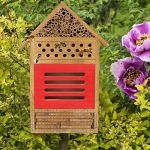 Maison d'insectes Insecte en Bois Maison d'abeilles Décoration de Jardin Non Toxique et Durable Boîte à nids Matériau en Bois de Haute qualité Insecte Maison d'abeilles Jardin pour Abeilles