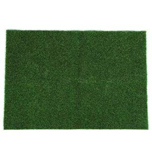 Meiyya Gazon Artificiel, pelouse Artificielle Naturelle, Jardin Vert Herbe simulée Fibre Chimique de Haute qualité 49×70 cm pour balcons Jouets Maisons
