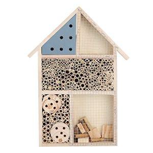 Nannday Maison d'insectes, boîte à Insectes Suspendue, Nidification de Cadeau Merveilleux pour la décoration de Jardin d'abeille Utilisation extérieure