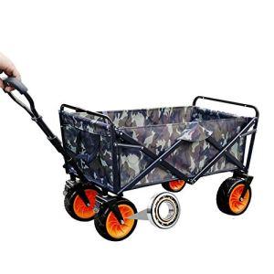 NEHARO Chariot Pliant Wagon Lourds Panier avec Grandes Roues et Armature en Acier Pliable 110 kg Chariots de Jardin Wagons (Color : As Shown, Size : 90x51x100cm)