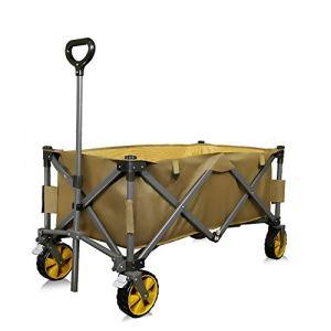 NEHARO Chariot Pliant Wagon Wagon extérieur Trolley Pliant Unisexe étude Solide Cadre Parfait for Les Festivals Camping Chariots de Jardin Wagons (Color : As Shown, Size : 117x57x105cm)