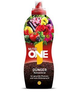 Nutri One Engrais liquide universel concentré pour plantes en pot, plantes de balcon, légumes, herbes et jardin 1 litre