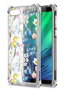Oihxse Transparent Coque pour Xiaomi Redmi Note 6/Note 6 Pro Souple TPU Silicone Protection Etui Air Cushion [Shock-Absorption] [Anti-Rayures] Fleurs Motif Housse Bumper (B11)