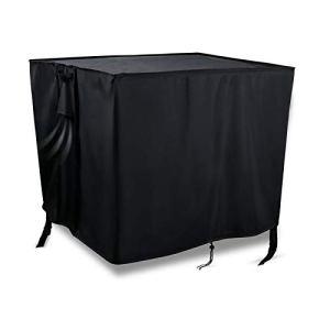 Onlyme Bâche de foyer carrée et ronde – Imperméable et robuste pour terrasse – Housse de protection durable pour meubles d'extérieur Noir Square: 30 x 30 x 13 inch Carré