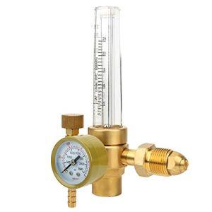 Oumefar Régulateur de débit de gaz débitmètre en Laiton fiable 0-25L / Min Haute Pression avec connecteur pour Usine pour Bouteilles mélangées à l'hélium