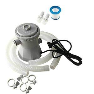 Piscine Électrique Filtre Pompe Électrique Réutilisable Filtre Kit Piscine Purificateur d'eau Système De Nettoyage d'eau (UK Plug)