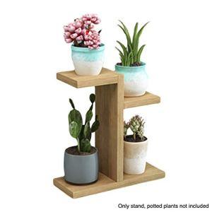 Pohove Support pour plantes en bois, cadeau de bureau multi-couches pour économiser de l'espace