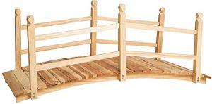 Pont de jardin Pont de jardin Bridge de rock en bois de 140 cm de long, idéal pour sauter de petites queues, des ruisseaux, des étangs, etc,wood