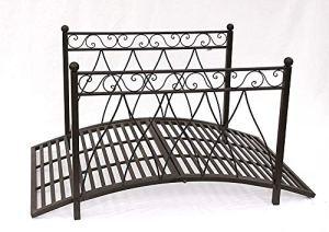 Pont de pont métallique 145cm de jardin pont métallique décoration de jardin 145 * 87 * 80,Black