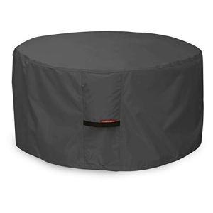 Porch Shield 100% étanche carré 600d Heavy Duty Housse pour Table de Foyer/terrasse 44»L x 44»W x 24″ H Round – Black